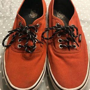 Orange size 12 men's Vans